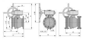 Краны шаровые Тяжпромарматура для тепловодоснабжения с ручным управлением Ду 50 - 300 мм Pу 1.6 МПа