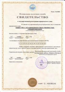 Св-во ОГРН Спецпромрезерв, ООО - Контакты