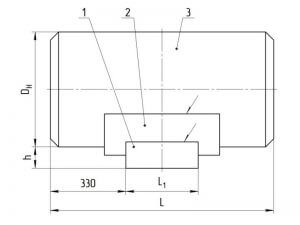 Опоры неподвижные с приварным патрубком Ю1 (проект ЮЖНИИГИПРОГАЗ) чертеж